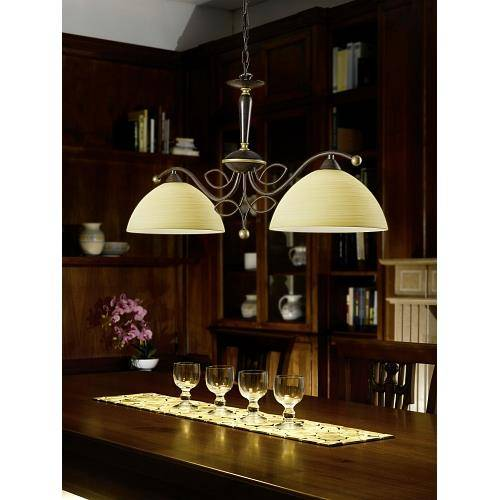 Pendelleuchten hl 2 antik braun gold 39 beluga 39 for Esszimmerlampen design