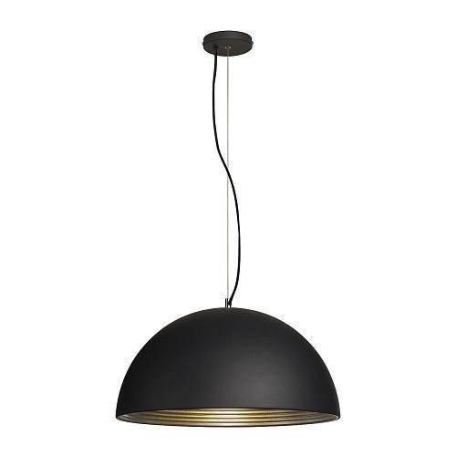 forchini m pendelleuchte pd 1 50cm rund schwarz gold e27 max. Black Bedroom Furniture Sets. Home Design Ideas