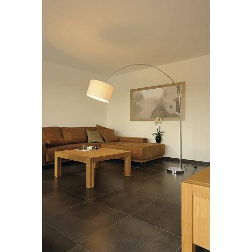 soprana bow bogenstehleuchte sl 1 weisser schirm e27 max 60w 2 packst cke. Black Bedroom Furniture Sets. Home Design Ideas