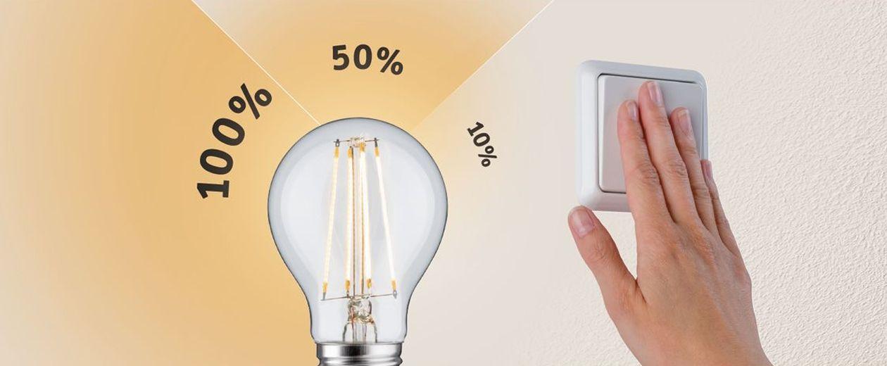 3-Step-Dimmfunktion dimmen per Lichtschalter