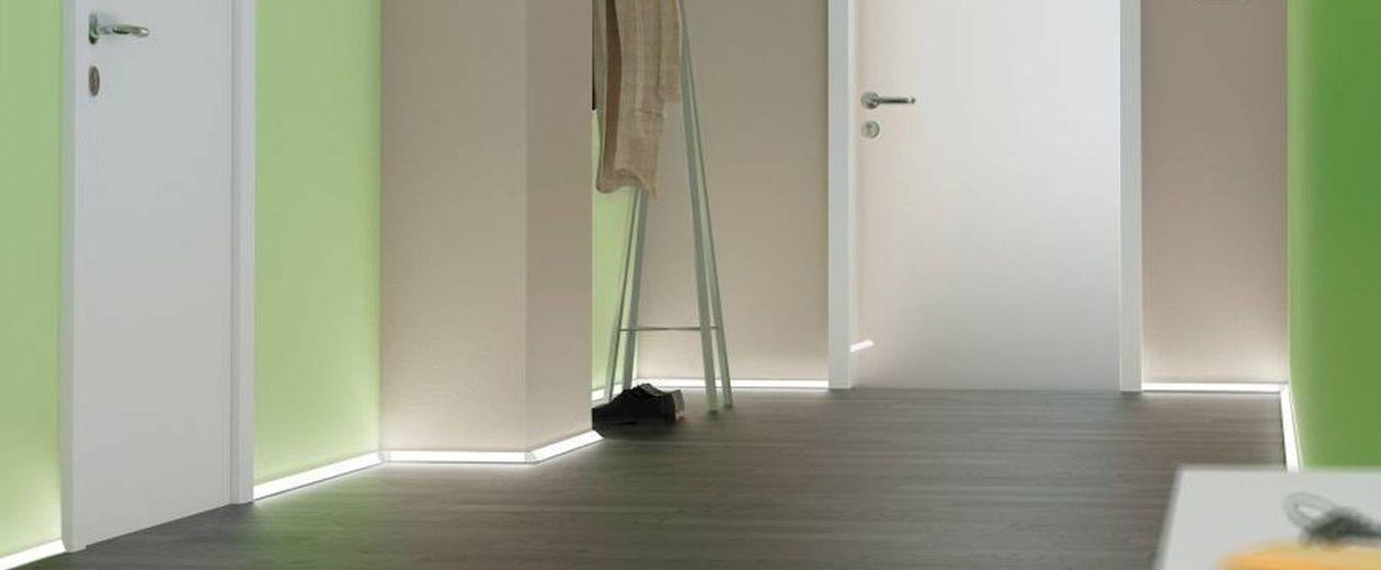 Delta Aluminiumprofil für Fußbodenbeleuchtung