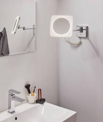 IP44 HomeSpa LED-Kosmetikspiegel Jora mit 3-fach Vergrösserung