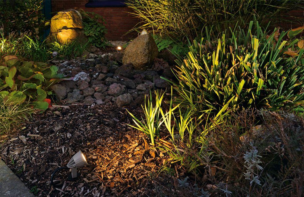 Beetbeleuchtung im Garten
