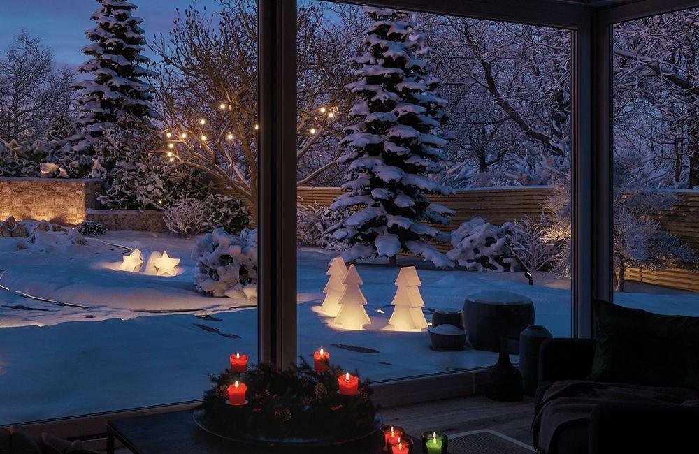 Gartenbeleuchtung im Winter