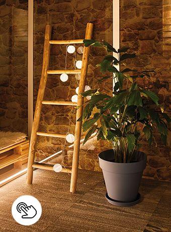 Lichterkette mit Akku für den Außenbereich