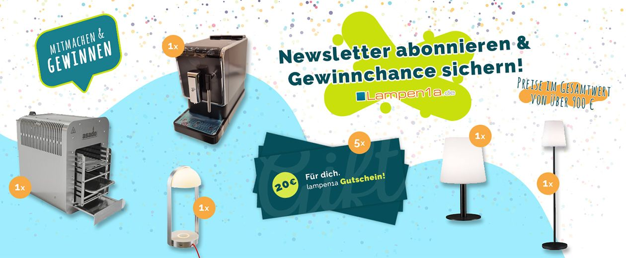 lampen1a Newsletter Gewinnspiel