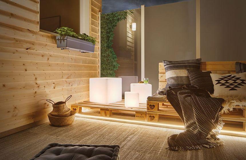 Indirekte Beleuchtung für Ihre Terrasse