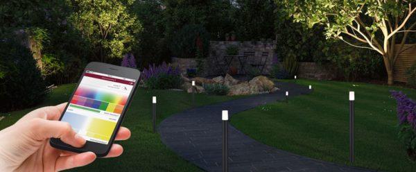 Smarte Outdoor Lichtsteuerung