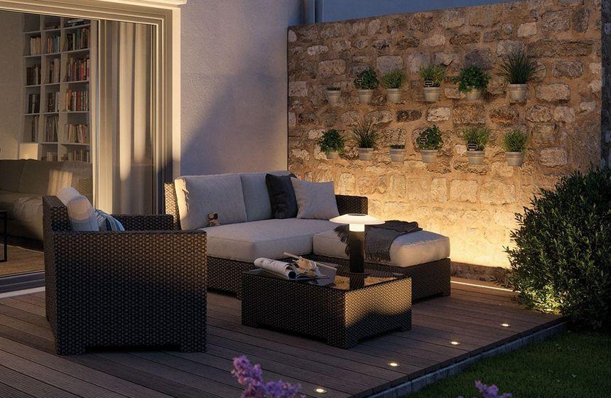 Terrassenlicht als Grundbeleuchtung oder Akzentbeleuchtung