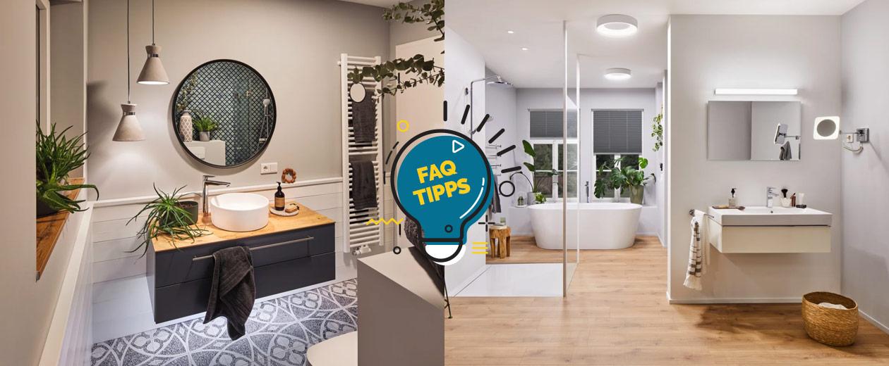 Badezimmerbeleuchtung: Was ist die optimale Beleuchtung im Bad?