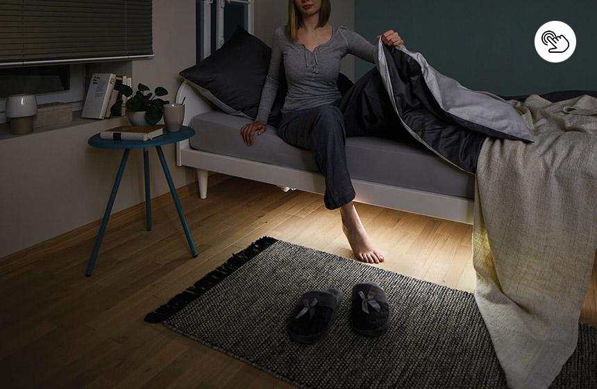 Bettbeleuchtung mit Bewegungssensor für indirektes Licht