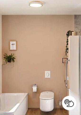 Grundbeleuchtung im Badezimmer durch Deckenleuchten