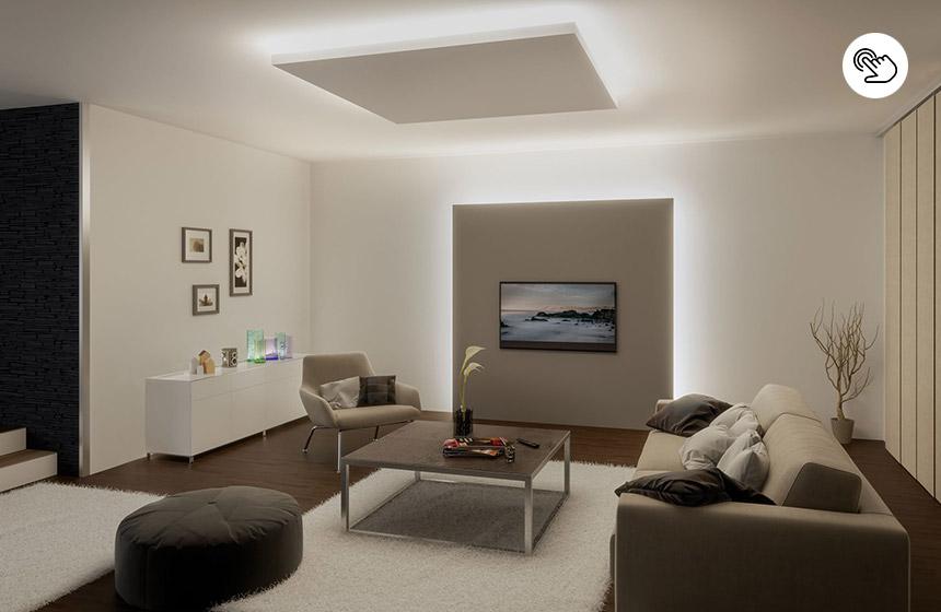 Indirekte Beleuchtung für Wand und Decke