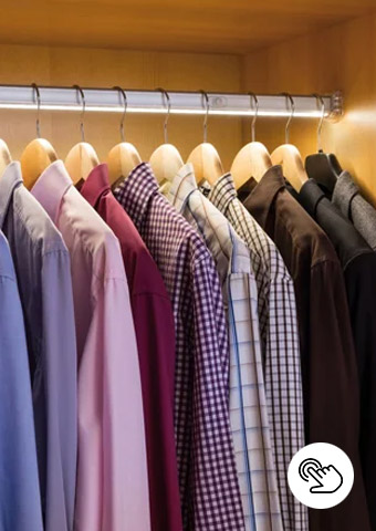 Indirektes Licht im Kleiderschrank