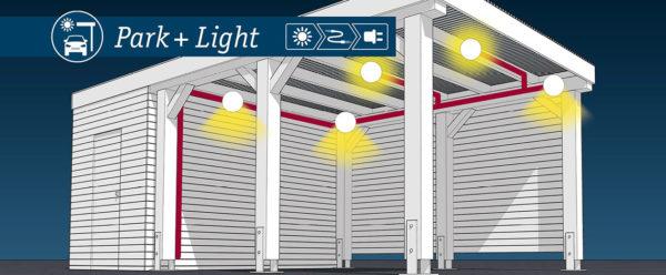 Carport Beleuchtung