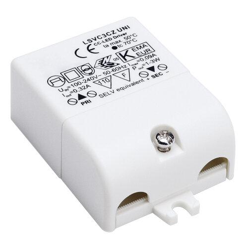 Zugentlastung mit AMP Stecker 350mA 3VA inkl SLV LED-Treiber