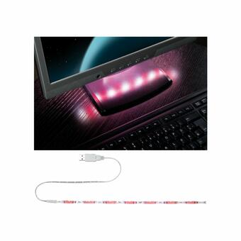 USB LED-Stripe rot-weiß 30cm