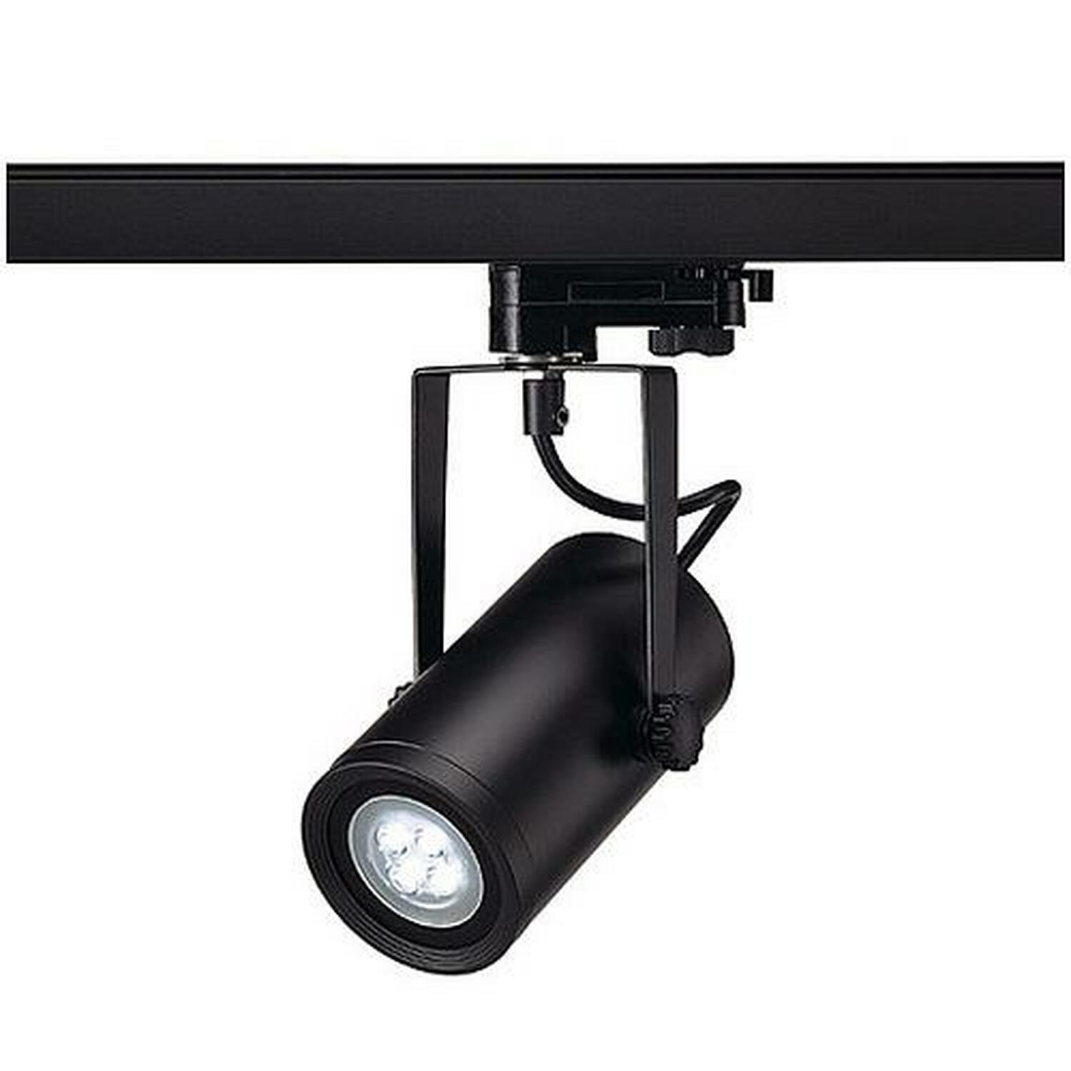 EURO SPOT INTEGRATED LED, schwarz, 13W, 4000K, 15°, inkl. 3P.-Adapter