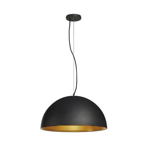 forchini m pendelleuchte pd 1 50cm rund schwarz gold. Black Bedroom Furniture Sets. Home Design Ideas
