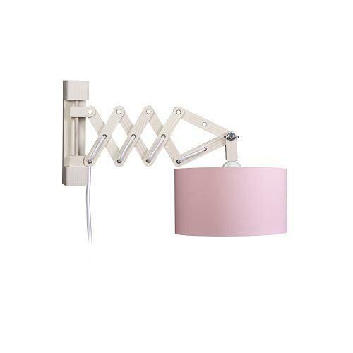 wandleuchte schere rosa innen gold mit schalter. Black Bedroom Furniture Sets. Home Design Ideas