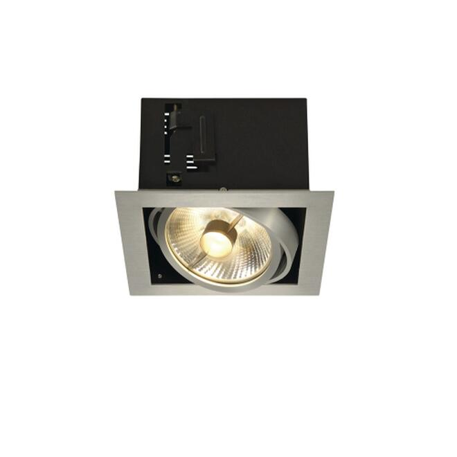 KADUX 1 ES111 Downlight, eckig, alu brushed, max. 50W