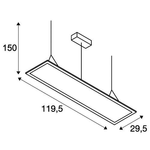 LED 2700K SLV I-PENDANT PRO Pendelleuchte 35W silbergrau