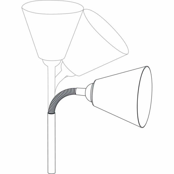 Klemmleuchte Vitis mit Flexarm E14 Grau und Schnurschalter