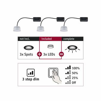 Einbauleuchte Choose LED-Modul Coin 3-Step-Dim 3x6,5W 2.700