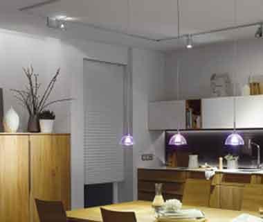 schienensysteme f r lampen und leuchten. Black Bedroom Furniture Sets. Home Design Ideas